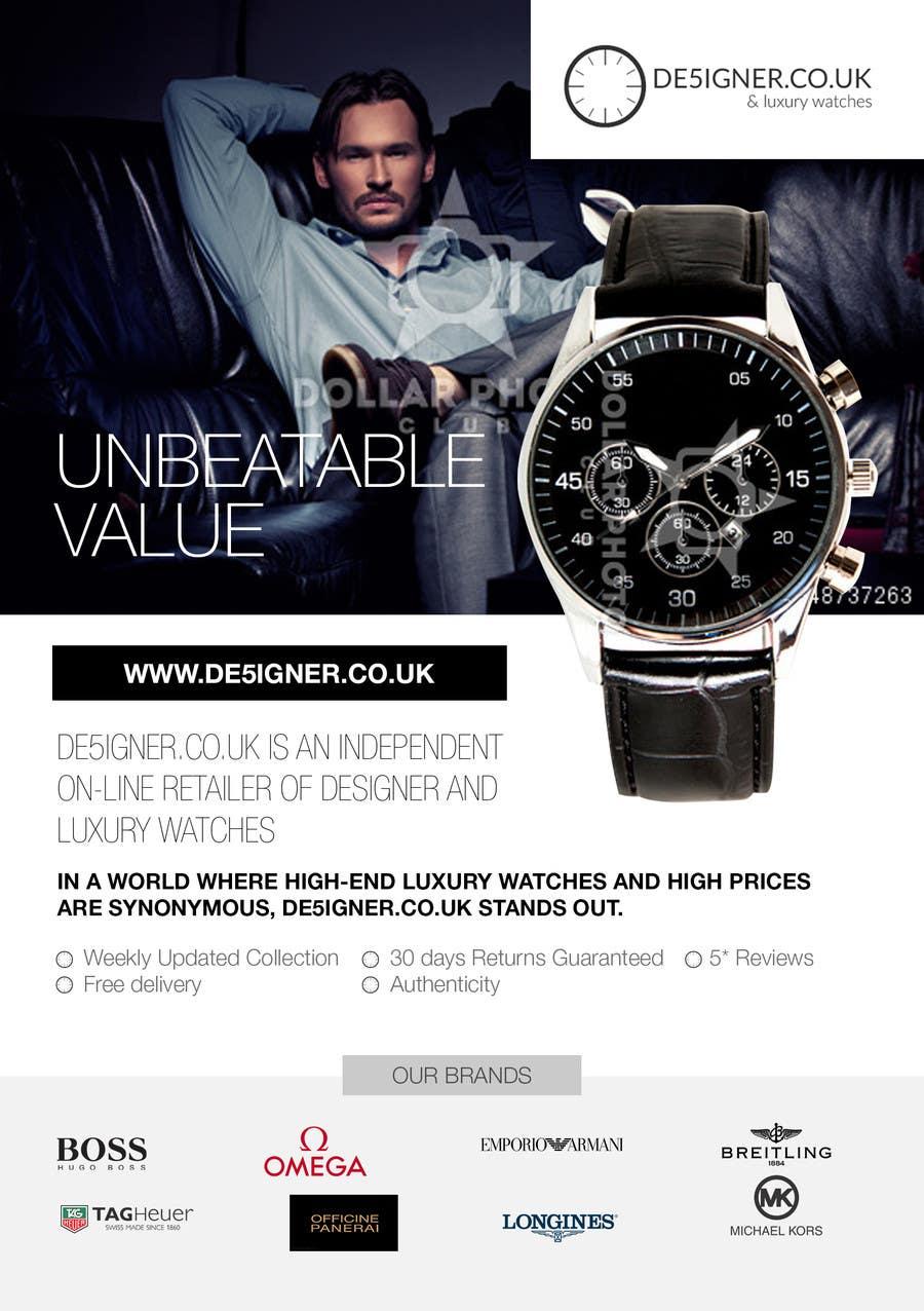 Inscrição nº 24 do Concurso para Design a Flyer for a luxury watch store