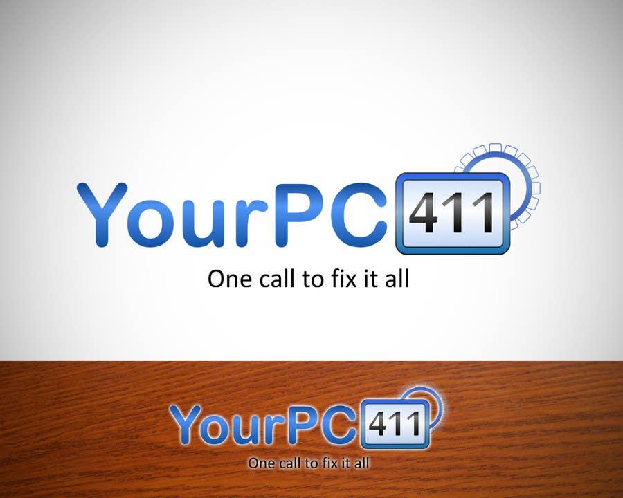 """Kilpailutyö #7 kilpailussa Design a Logo for """"Your PC 411"""""""