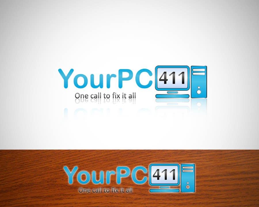 """Kilpailutyö #39 kilpailussa Design a Logo for """"Your PC 411"""""""