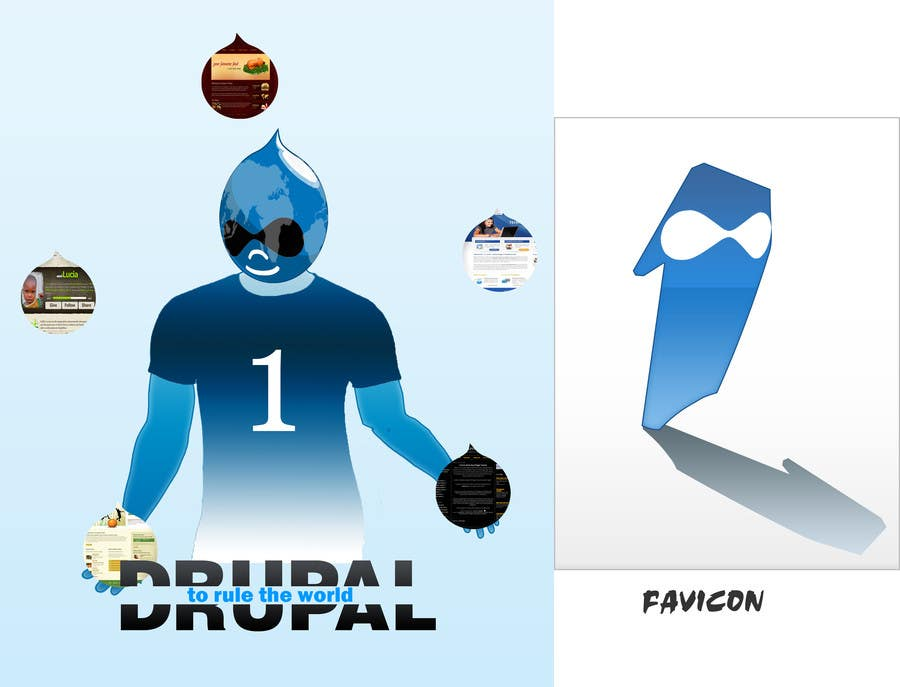 Penyertaan Peraduan #15 untuk Design a Logo for Drupal Project [One]