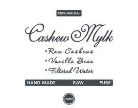 """#32 for I need some Graphic Design for a product label """"Cashew Mylk"""" by veranika2100"""