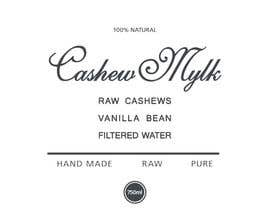 """#42 for I need some Graphic Design for a product label """"Cashew Mylk"""" by veranika2100"""