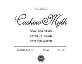"#42 para I need some Graphic Design for a product label ""Cashew Mylk"" por veranika2100"