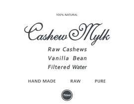 """#43 for I need some Graphic Design for a product label """"Cashew Mylk"""" by veranika2100"""