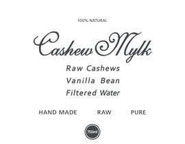 "#43 para I need some Graphic Design for a product label ""Cashew Mylk"" por veranika2100"