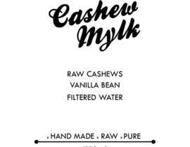 """#18 para I need some Graphic Design for a product label """"Cashew Mylk"""" por ms471992"""