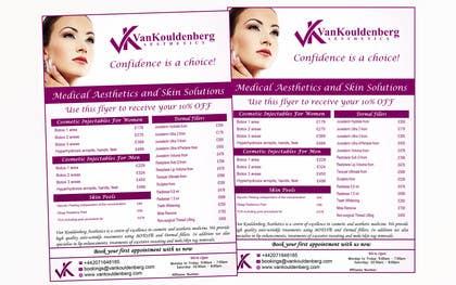 Nro 10 kilpailuun Design a Flyer for aesthetic clinic -- 2 käyttäjältä LeeniDesigns