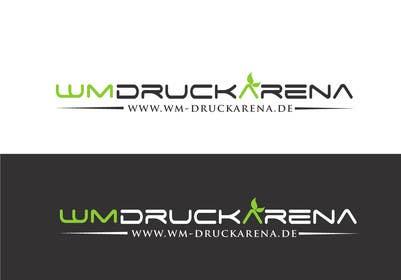 #10 untuk Design eines Logos für die wm druckarena GmbH oleh sayuheque