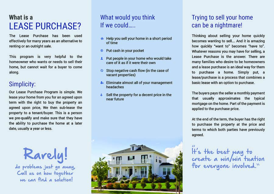Entry #8 by Rapideye for Design a Brochure for real estate