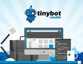 #19 untuk Design a Website Mockup for The TINY BOT STUDIOS oleh leandeganos
