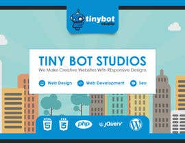 #12 untuk Design a Website Mockup for The TINY BOT STUDIOS oleh muhamedibrahim25