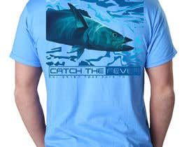 #26 untuk Design a cool fishing shirt for my company Catch the Fever oleh sosopo