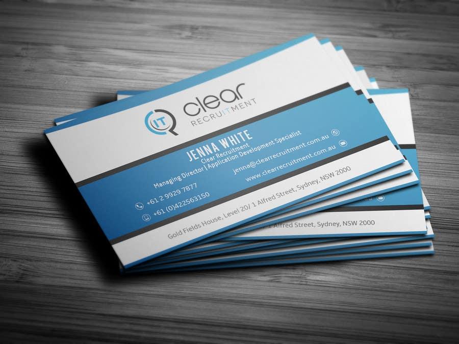 Penyertaan Peraduan #33 untuk Recruitment Firm Business Card
