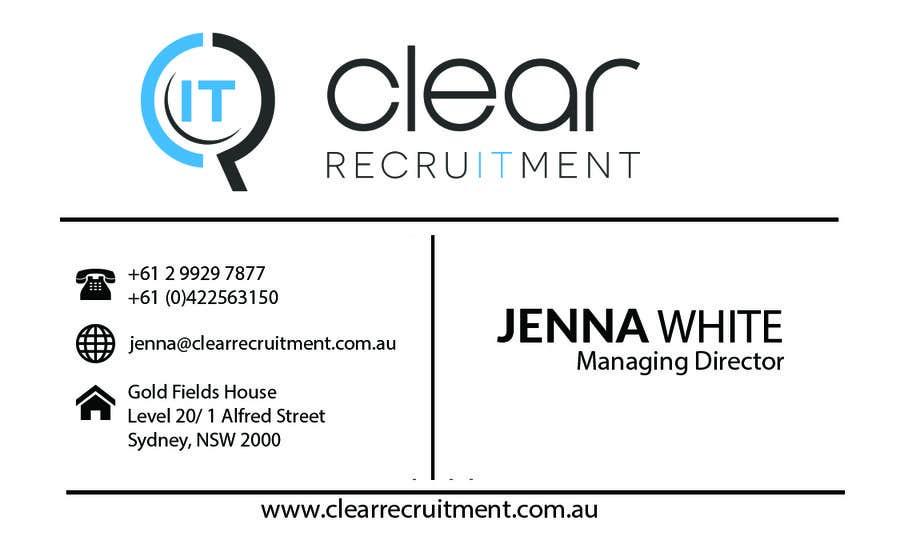 Penyertaan Peraduan #28 untuk Recruitment Firm Business Card