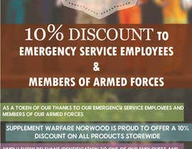#9 untuk design a poster advertising discounts for emergency service members oleh hippodesigner