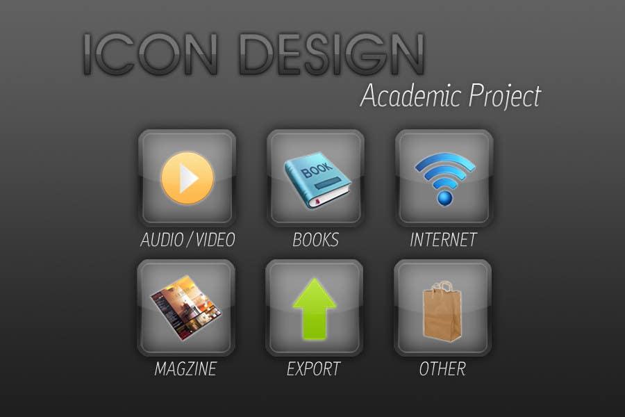Icons Design for Academic Project için 19 numaralı Yarışma Girdisi