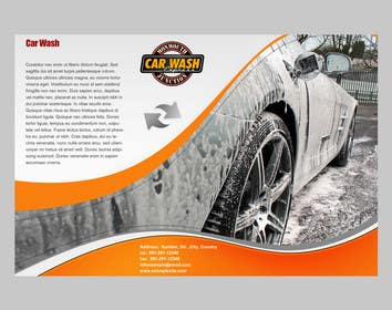 Nro 1 kilpailuun Design a Brochure for a local car wash / car detailing center käyttäjältä crazenators