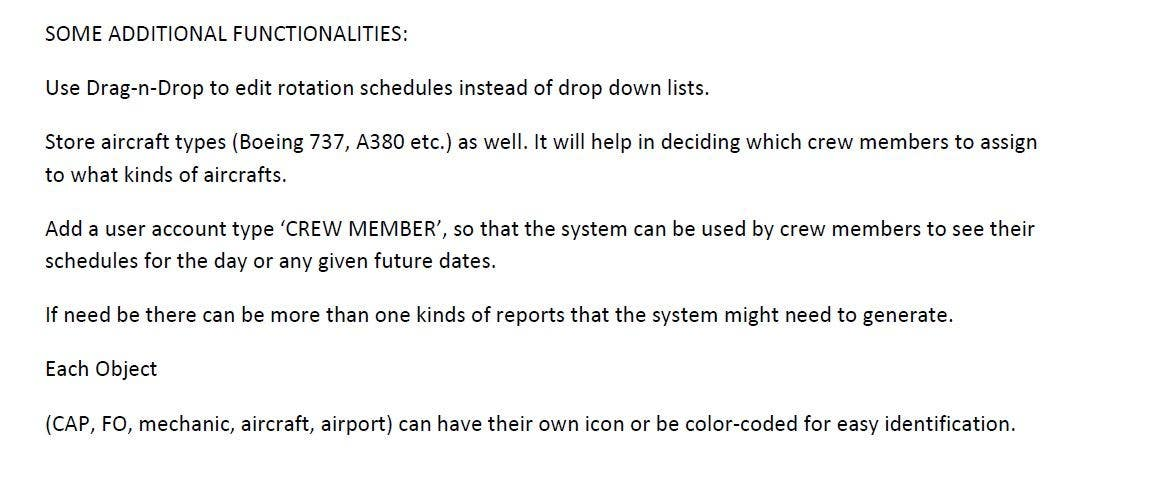 #9 for Crew and aircraft rotation system by Saadyarkhalid