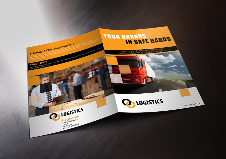 Entry #33 by stylishwork for Design a Brochure for Logistics Company