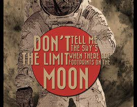 #57 for Creative Design for Inspirational Quote! (Footsteps on the moon) af had1st