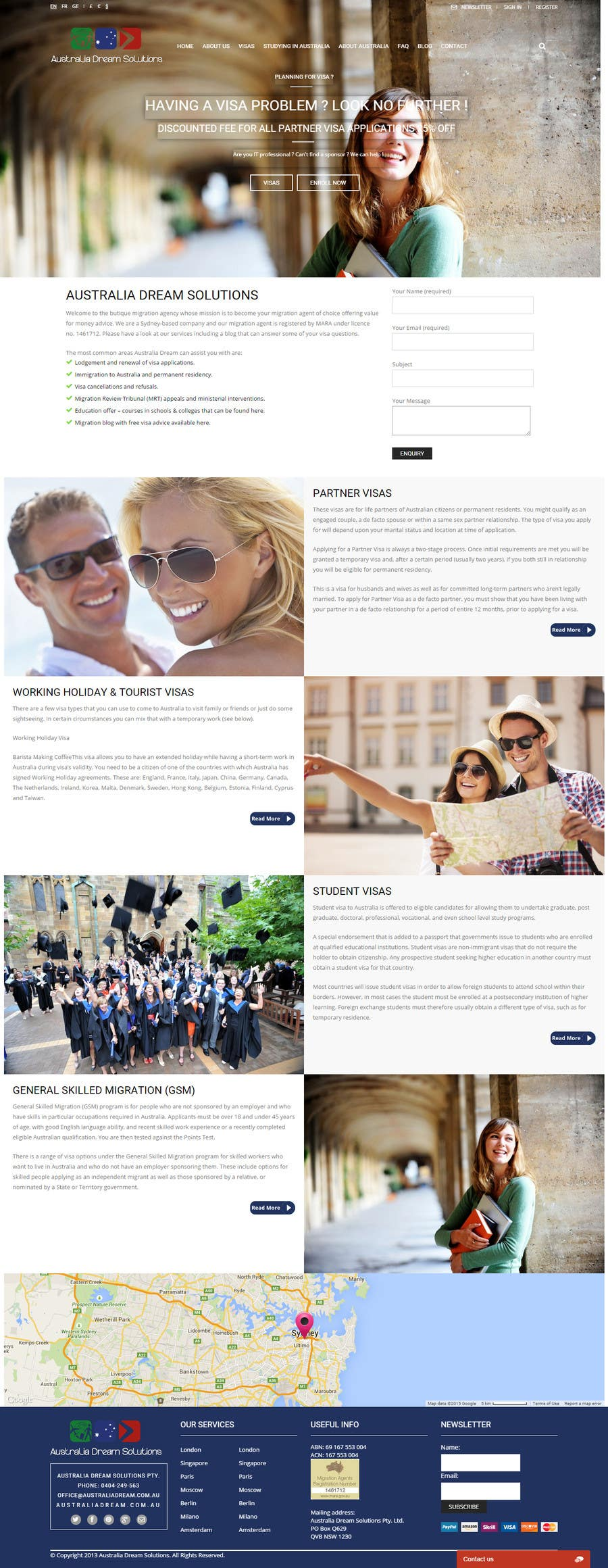 Kilpailutyö #14 kilpailussa Home page redesign by making it sales-focused (legal services).