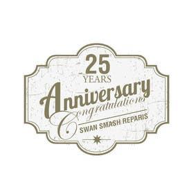 #54 untuk 25th Anniversary Logo oleh ranjandesigner
