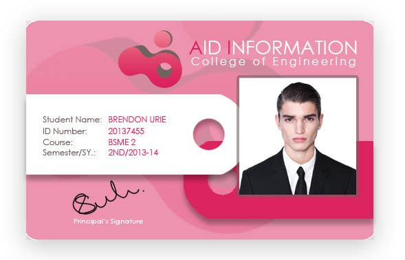 university id card template - college id card design freelancer