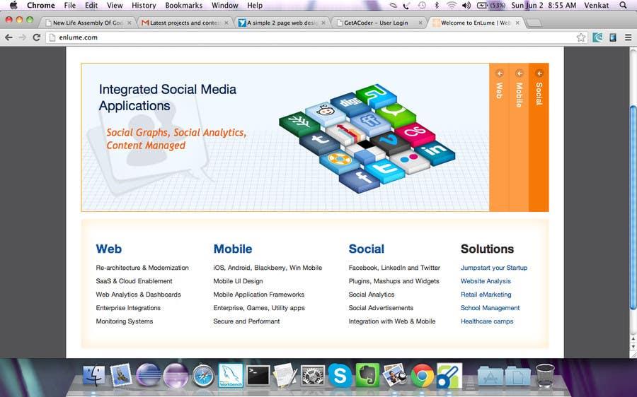 Bài tham dự cuộc thi #                                        1                                      cho                                         A simple 2 page web design