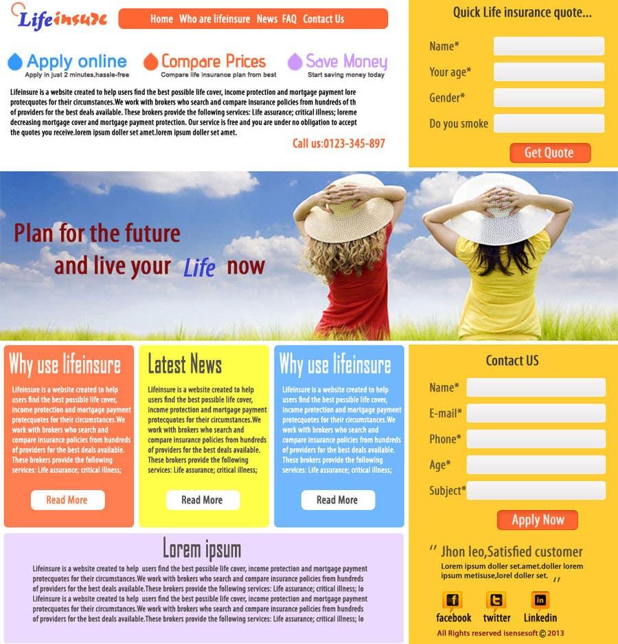 #26 for Design a Website Mockup by isensebd