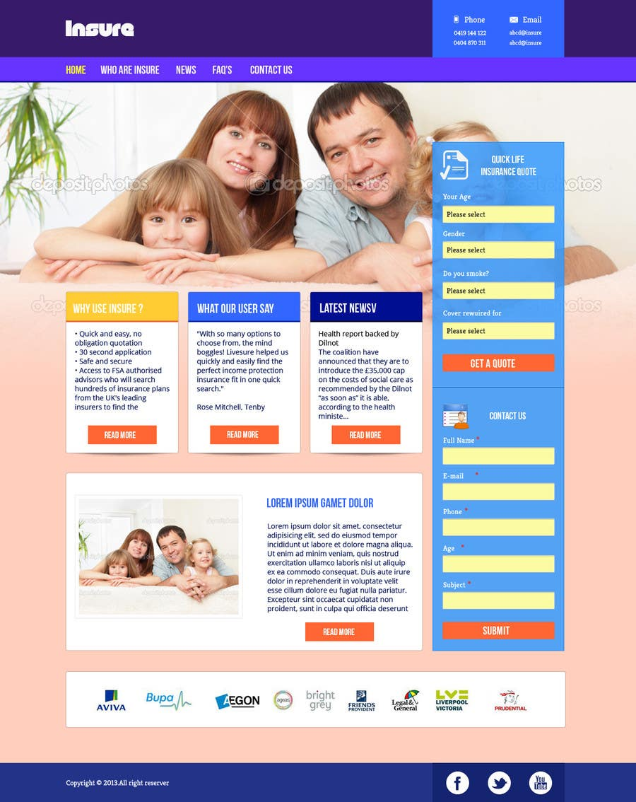 #21 for Design a Website Mockup by helixnebula2010