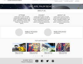 juniorreyyes tarafından Design Landing Page, Responsive Landing Page & Overall Theme for Art Fair Website için no 43