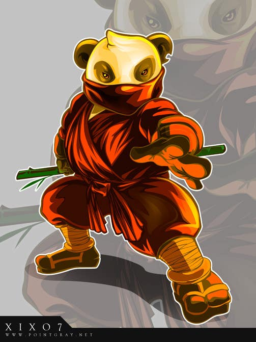 Natečajni vnos #                                        3                                      za                                         Mascot Design for Ninja Panda Designs