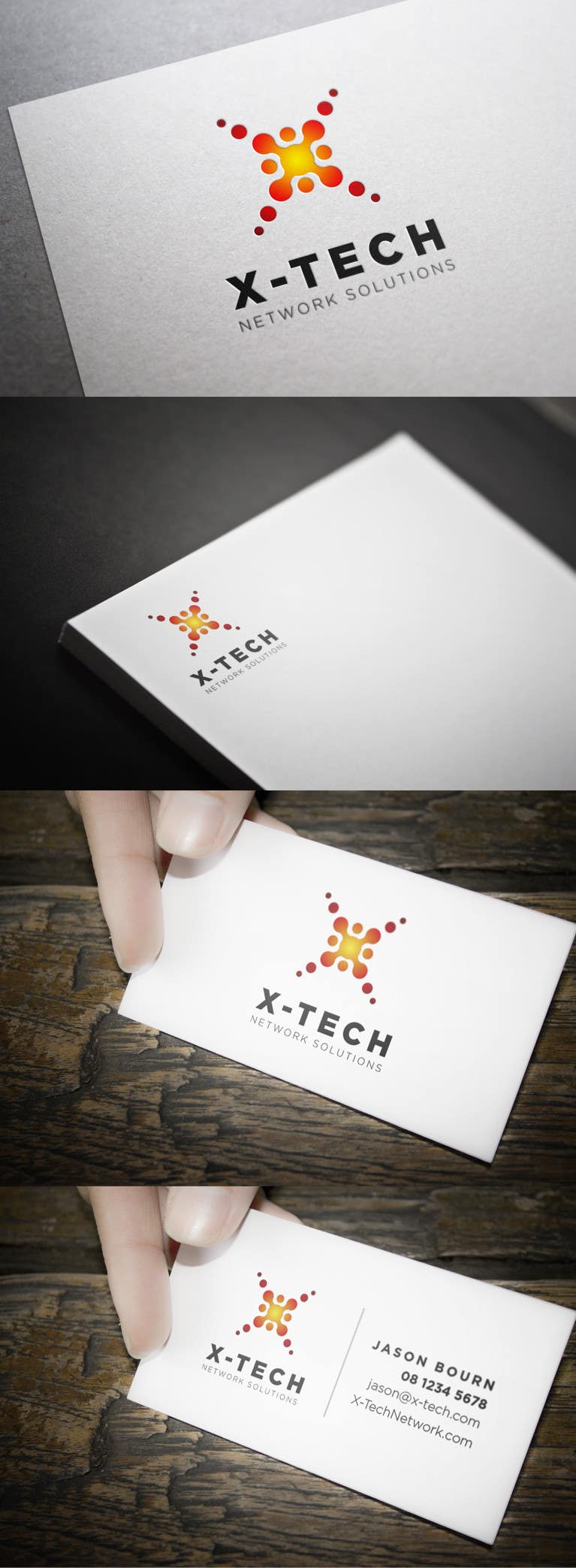 #64 for Develop a Corporate Identity for X-TechNetwork.com (Logo, Business Card & Letterhead) by toybox29