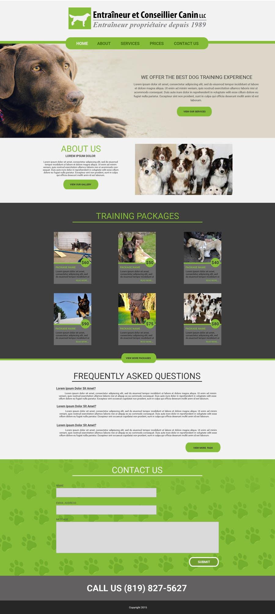 Penyertaan Peraduan #18 untuk Urgent design for Dog trainer website