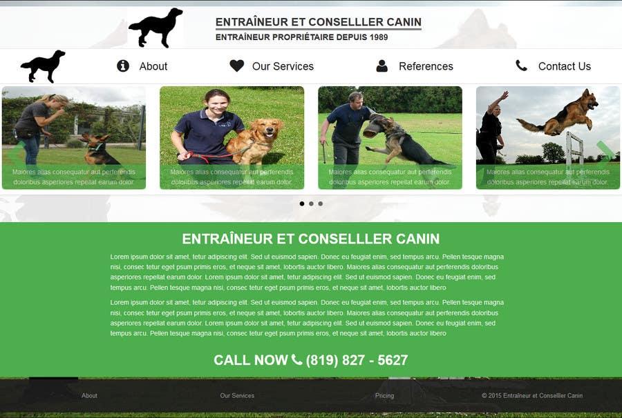 Penyertaan Peraduan #4 untuk Urgent design for Dog trainer website