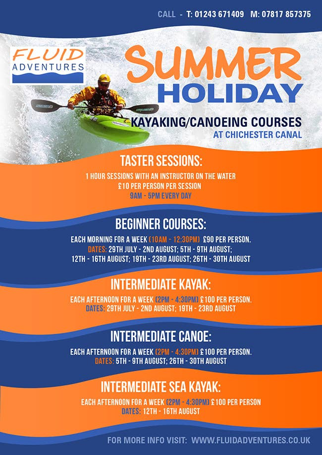 Konkurrenceindlæg #14 for Design a flyer for Summer Holiday Kayaking Courses