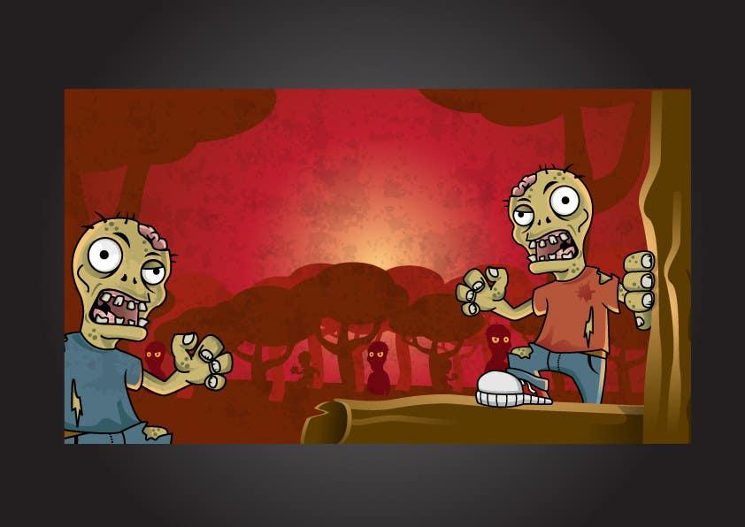Konkurrenceindlæg #6 for Design & Illustration - 2D Zombie Game Main Screen