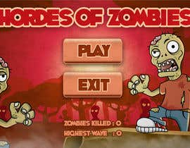 #14 for Design & Illustration - 2D Zombie Game Main Screen af Bebolum