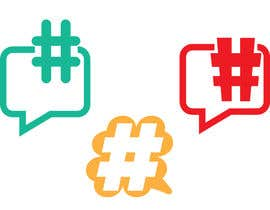 #7 untuk Design a chat bubble that look like a hashtag oleh briangeneral