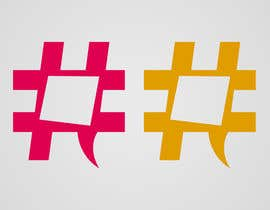 #30 untuk Design a chat bubble that look like a hashtag oleh alromisa
