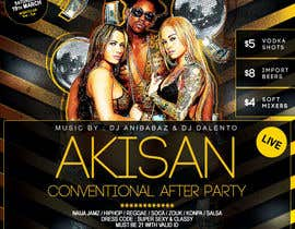 #17 untuk Design a Flyer for AKISAN Convention after-party oleh kam3dyard
