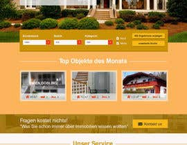 #60 for new website screendesign for real estate company by Evgeniya82