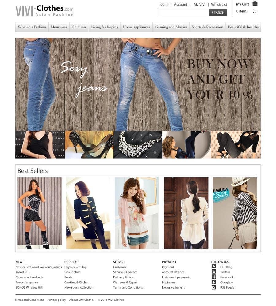 #5 for Website Design for VIVI Clothes by dragnoir