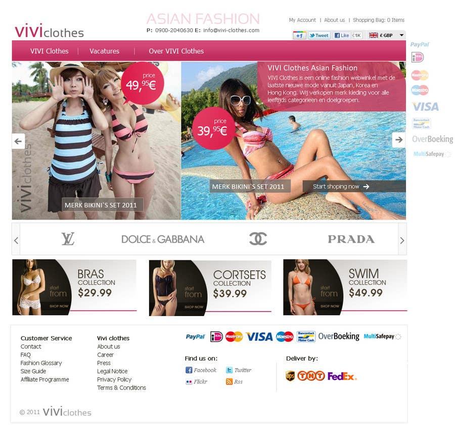 #50 for Website Design for VIVI Clothes by darila