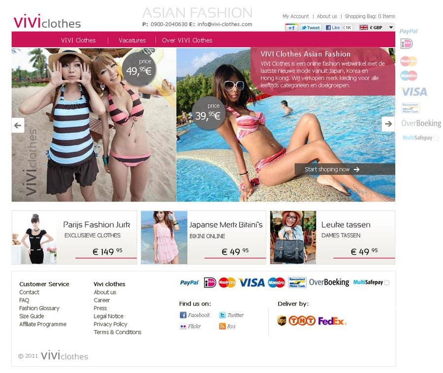 #55 for Website Design for VIVI Clothes by darila