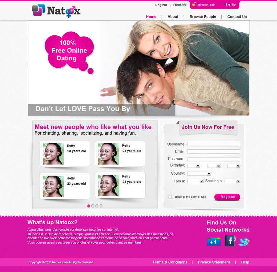 Dating homepage