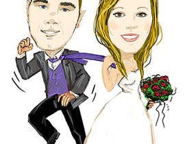 #36 para Cartoon wedding couple por antoanetabg
