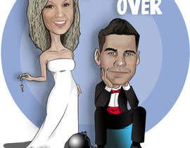 #29 para Cartoon wedding couple por rebces