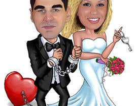 #22 para Cartoon wedding couple por marcokap
