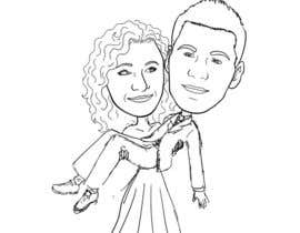 #21 para Cartoon wedding couple por cassiajc